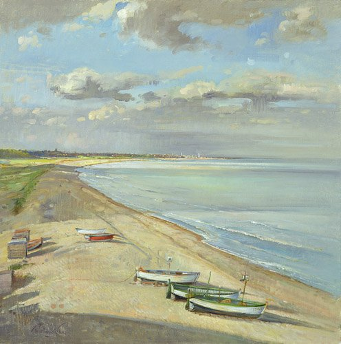 tableaux-de-paysages-marins - Tableau - Towards Southwold - - Easton, Timothy