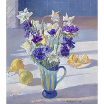 Tableaux nature morte - Tableau - Spring Flowers and Lemons, 1994 - - Easton, Timothy