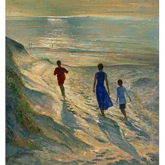 Tableaux de paysages marins - Tableau - Beach Walk, 1994 - - Easton, Timothy