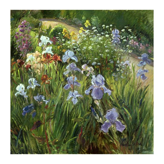 Tableau - Irises and Oxeye Daisies, 1997 -