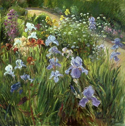 tableaux-pour-salon - Tableau - Irises and Oxeye Daisies, 1997 - - Easton, Timothy