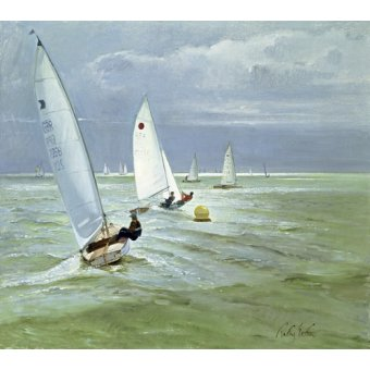 Tableaux de paysages marins - Tableau - Around the Buoy (oil on canvas) - - Easton, Timothy