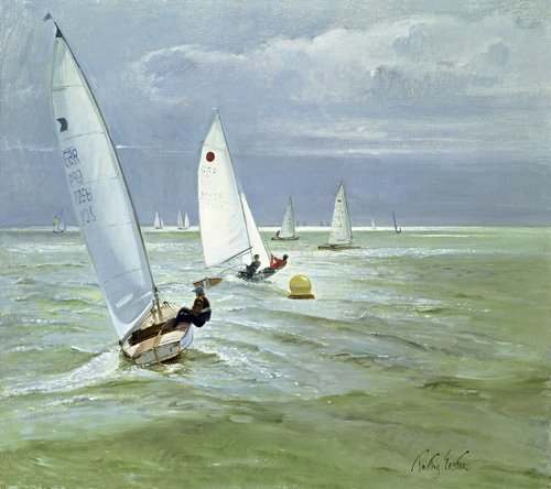 tableaux-de-paysages-marins - Tableau - Around the Buoy (oil on canvas) - - Easton, Timothy