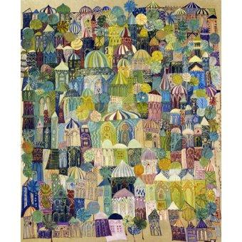 Tableaux orientales - Tableau - Jerusalem, 1970 - - Shawa, Laila