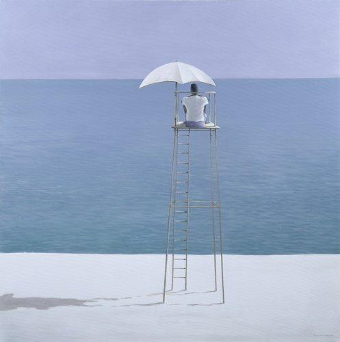 tableaux-de-paysages-marins - Tableau - Beach Guard, 2004 - - Seligman, Lincoln