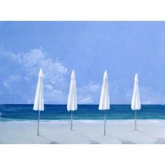Tableaux de paysages marins - Tableau - Beach Umbrellas, 2005 - - Seligman, Lincoln