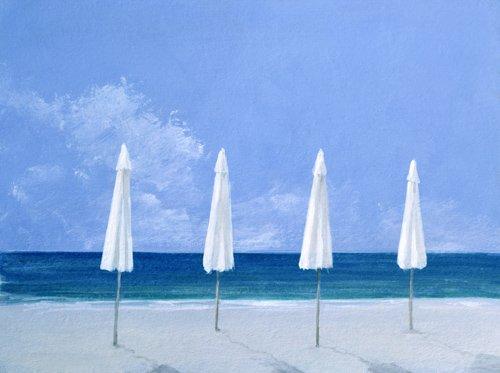 tableaux-de-paysages-marins - Tableau - Beach Umbrellas, 2005 - - Seligman, Lincoln