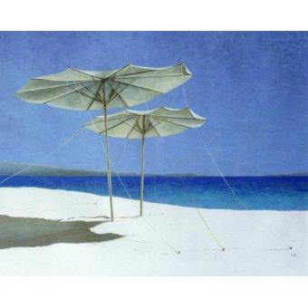 Tableaux de paysages marins - Tableau - Umbrellas, Greece, 1995 - - Seligman, Lincoln