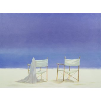 Tableaux de paysages marins - Tableau - Chairs on the beach, 1995 - - Seligman, Lincoln