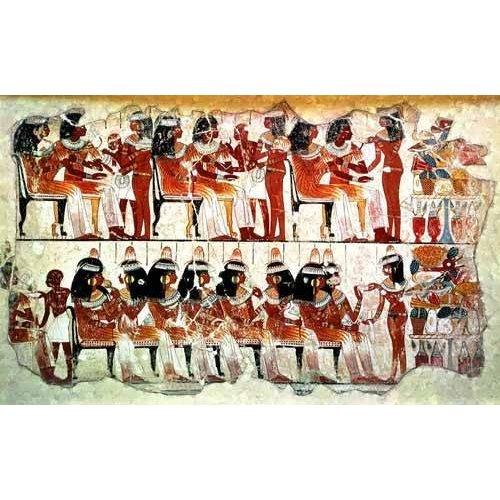 Tableau -Fresco en Thebes,- Banquete --