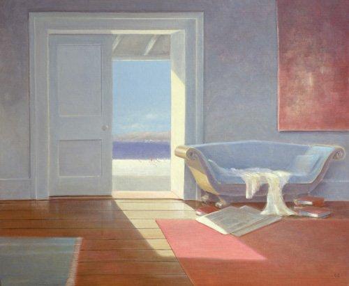 tableaux-de-paysages-marins - Tableau - Beach House, 1995 - - Seligman, Lincoln
