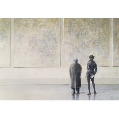 Tableau - Man and Woman in an Art Gallery -