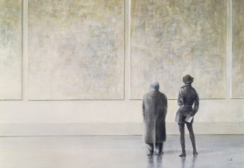 tableaux-modernes - Tableau - Man and Woman in an Art Gallery - - Seligman, Lincoln