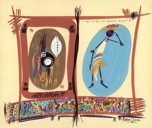 tableaux-orientales - Tableau - Element of Black culture, 2005 - - Perrin, Oglafa Ebitari