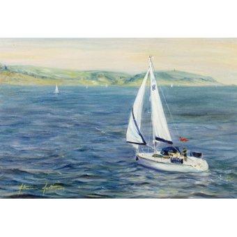 Tableaux de paysages marins - Tableau - Sailing Home, 1999 - - Myatt, Antonia