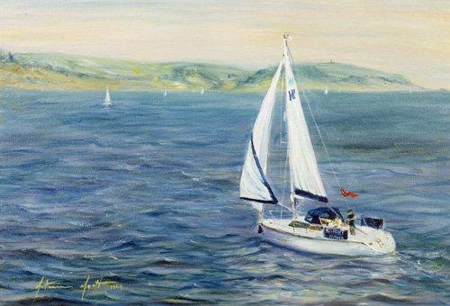 tableaux-de-paysages-marins - Tableau - Sailing Home, 1999 - - Myatt, Antonia