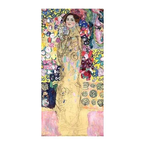 pinturas do retrato - Quadro -Retrato de Maria Munk, (1917-18)-