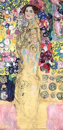 tableaux-de-personnages - Tableau -Portrait de Maria Munk, (1917-18)- - Klimt, Gustav