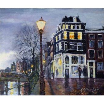 Tableaux modernes - Tableau - At Dusk, Amsterdam, 1999 - - Myatt, Antonia
