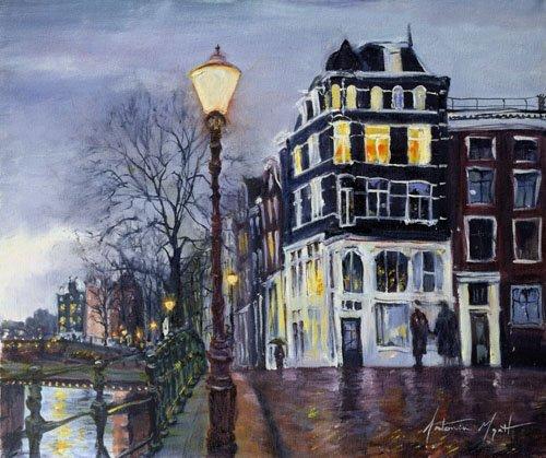 tableaux-modernes - Tableau - At Dusk, Amsterdam, 1999 - - Myatt, Antonia