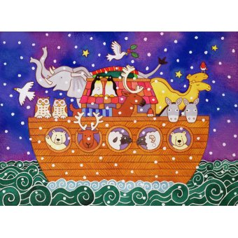 Tableaux pour enfants - Tableau - Christmas Ark, 1999 (w.c and pastel on paper) - - Baxter, Cathy