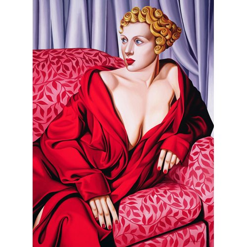 Tableau -Red Kimono (oil on canvas)-