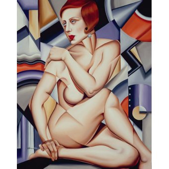 - Tableau -Cubist Nude (oil on canvas)- - Abel, Catherine