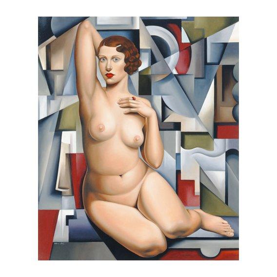 Tableau -Seated Cubist Nude (oil on canvas)-