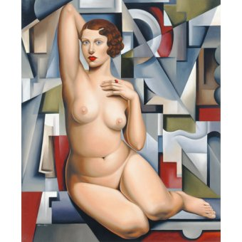 - Tableau -Seated Cubist Nude (oil on canvas)- - Abel, Catherine