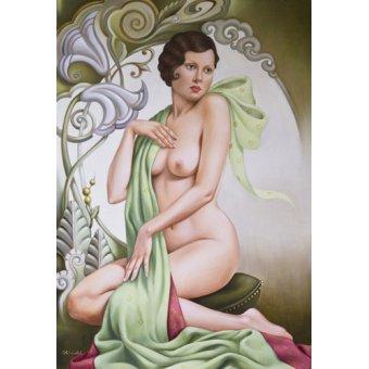 - Tableau -Petite Libellule (oil on linen)- - Abel, Catherine