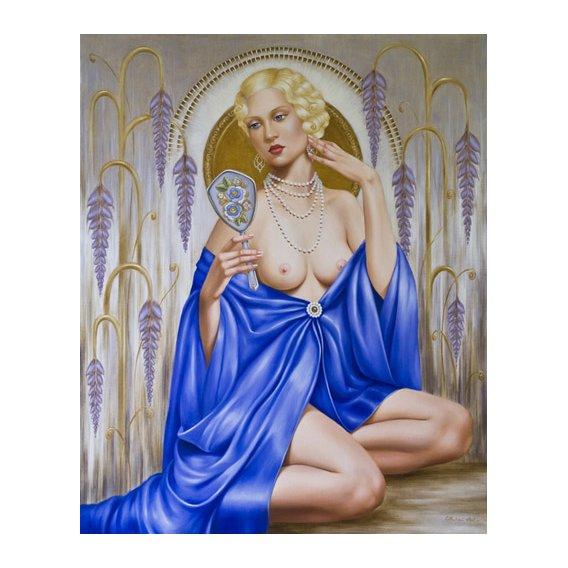 Tableau -Rhapsody in Blue (oil on canvas)-