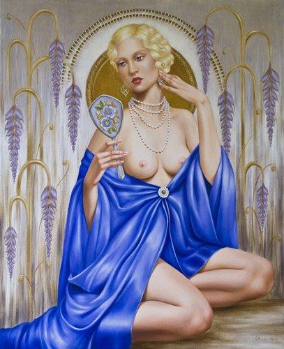 tableaux-de-personnages - Tableau -Rhapsody in Blue (oil on canvas)- - Abel, Catherine