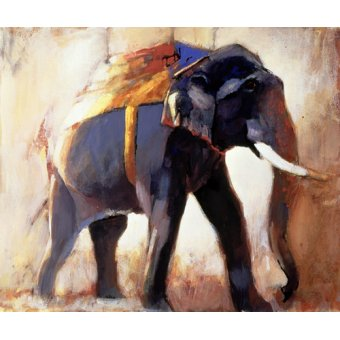 Tableaux de faune - Tableau -Shivaji, Khana, 1996 (mixed media on paper)- - Adlington, Mark