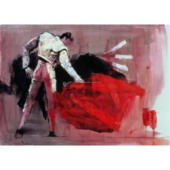 Tableaux de faune - Tableau -Matador, 1998 (mixed media on paper)- - Adlington, Mark