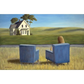 Tableaux de paysages - Tableau - Housesitting (oil on canvas) - - Arsenault, David