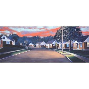Tableaux de paysages - Tableau -Twilight Glow, 1997 (oil on canvas)- - Arsenault, David