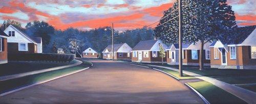 tableaux-de-paysages - Tableau -Twilight Glow, 1997 (oil on canvas)- - Arsenault, David