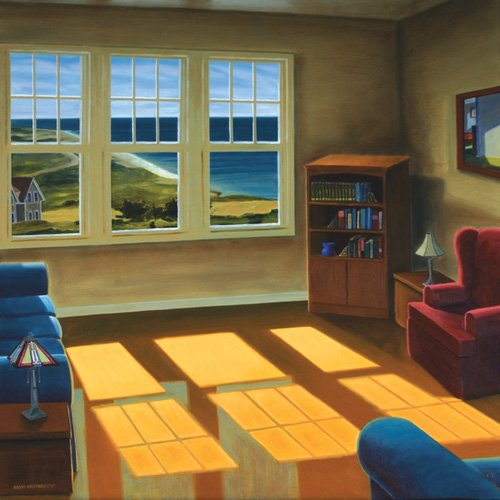 tableaux-de-paysages - Tableau -Apartment By The Sea, 2006 (oil on canvas)- - Arsenault, David