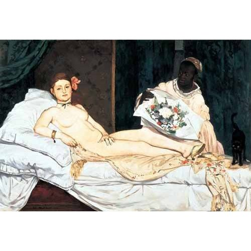 pinturas do retrato - Quadro -Olympia, 1863-
