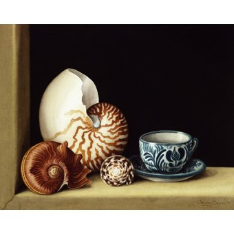 Tableaux nature morte - Tableau -Still life with Nautilus, 1998 (w.c on paper)- - Barron, Jenny