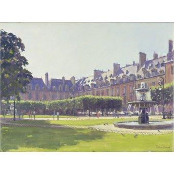 Tableaux de paysages - Tableau - Place des Vosges, Paris (oil on canvas) - - Barrow, Julian
