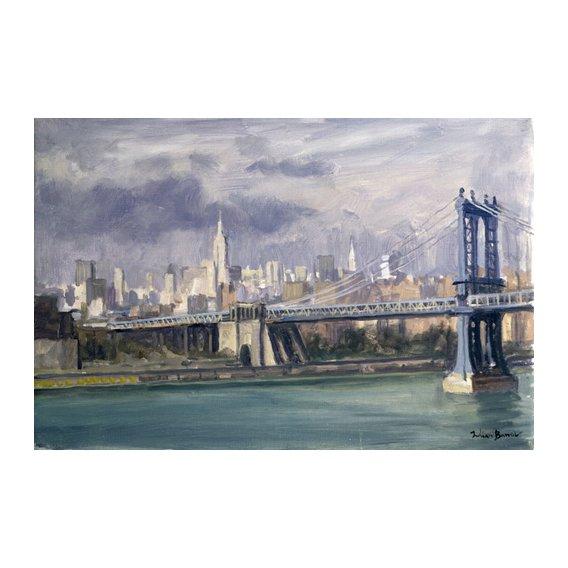Tableau -Manhattan Bridge, New York, 1996 (oil on canvas)-