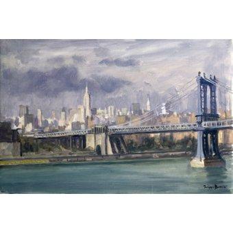 Tableaux de paysages - Tableau -Manhattan Bridge, New York, 1996 (oil on canvas)- - Barrow, Julian