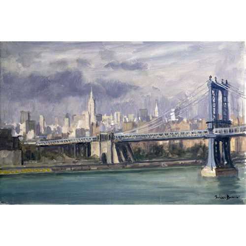 Tableau -Manhattan Bridge, New York, 1996 (oil on canvas)-