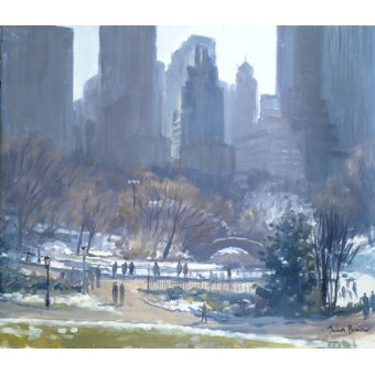Tableaux de paysages - Tableau -Winter in Central Park, New York, 1997 (oil on canvas)- - Barrow, Julian
