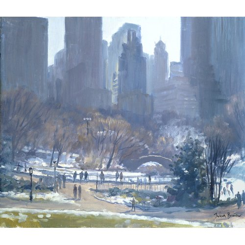 Tableau -Winter in Central Park, New York, 1997 (oil on canvas)-