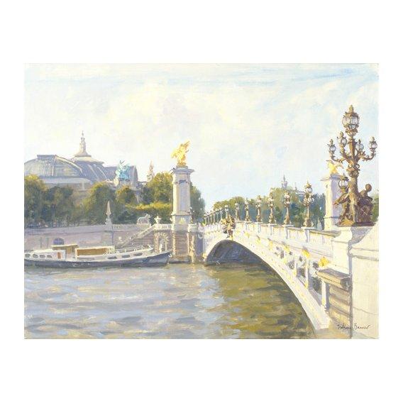 Tableau -Pont Alexandre III, Paris (oil on canvas)-