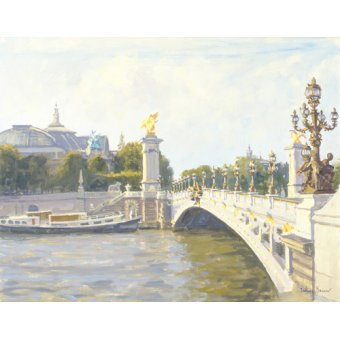 Tableau -Pont Alexandre III, Paris (oil on canvas)-