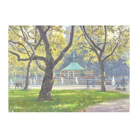 Tableau -Boat Pond, Central Park (oil on canvas)-