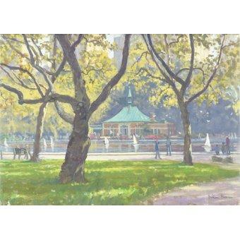 Tableaux modernes - Tableau -Boat Pond, Central Park (oil on canvas)- - Barrow, Julian